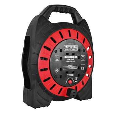 FAITHFULL semi-Enclosed Cable Reel 240V 10m 13A 4G | XMS1910CABLE
