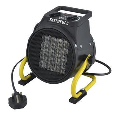 Faithfull Power Plus Ceramic Fan Heater 2kW | XMS19HEAT2KW