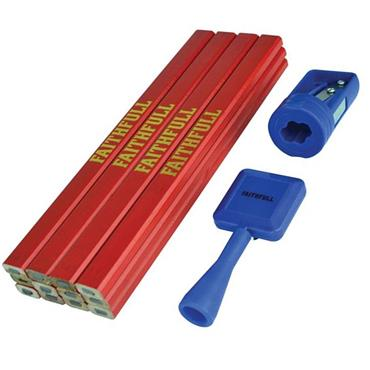 Faithfull Medium Carpenter's Pencils Set | XMS19MPENCIL
