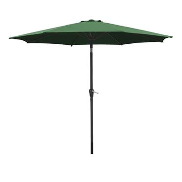 Aluminium Wind Up and Tilt Garden Parasol 2.7 Metre - Green