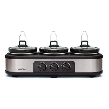 Quest 3 x 2.5 Litre Electric Slow Cooker Buffer Server Food Warmer | 16530