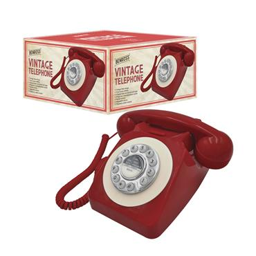 Benross Classic Retro Vintage Style Home Phone - Red | 44510