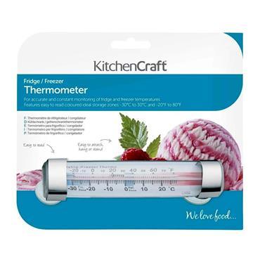 KitchenCraft Plastic Fridge and Freezer Thermometer | KCSTRIPTH