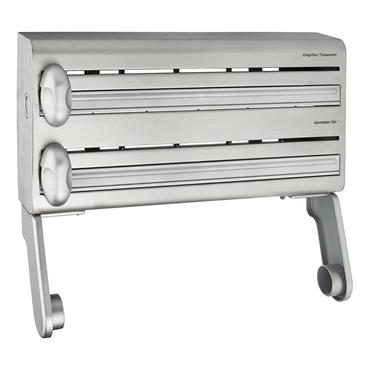 Masterclass Stainless Steel Cling Film Foil and Kitchen Towel Dispenser   MCMULTIDISPSS