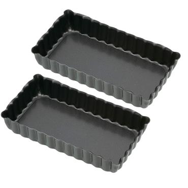 KC OBLONG MINI FLUTED TART TINS 2 PACK