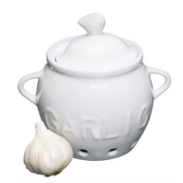 KC PORCELAIN GARLIC STORAGE POT