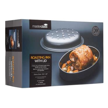 MasterClass Non-Stick Covered Oval Roasting Pan | KCMCHB67