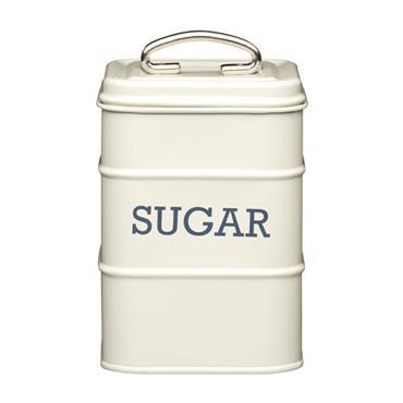 Living Nostalgia Metal Sugar Caddy Tin - Antique Cream | LNSUGARCRE