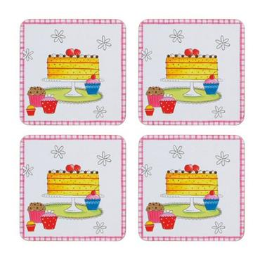 KC TIME FOR TEA DRINKS COASTERS 4 PACK