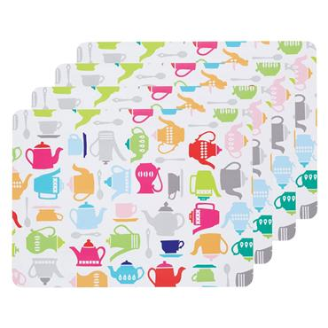 KC TEAPOT PLACEMATS 4 PACK