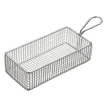 Masterclass Mini Deluxe Stainless Steel Rectangular Fry Basket | MCMFISHREC