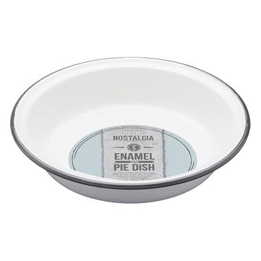 Living Nostalgia Enamel Round 20cm Pie Dish | LNENRDPIE20