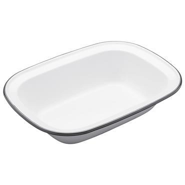 Living Nostalgia Enamel Oblong 20cm Pie Dish | LNENOBPIE20