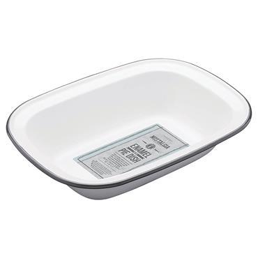 Living Nostalgia Enamel Oblong 26cm Pie Dish | LNENOBPIE26