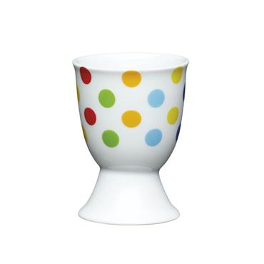 KitchenCraft Brights Spots Porcelain Egg Cup   KCEGGBSPOT