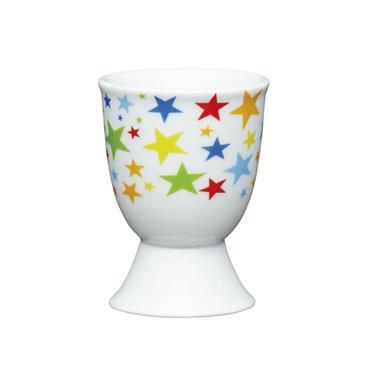 KitchenCraft Brights Stars Porcelain Egg Cup | KCEGGBSTAR