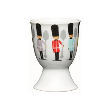 KitchenCraft Children's Soldiers Porcelain Egg Cup | KCEGGCSOLDIER