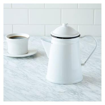 Living Nostalgia Enamel Coffee Pot / Serving Jug / Vase | LNENCOFJUG