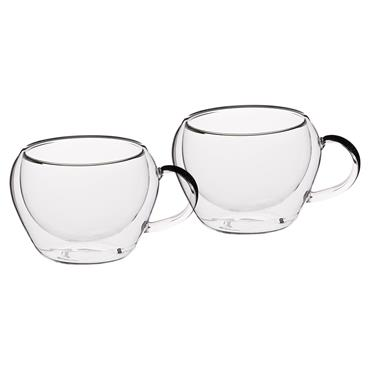 LeXpress Double Walled Glass Espresso Cups 2 Pack | KCLXDWESP2PC