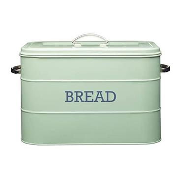 Living Nostalgia Large Metal Bread Bin - Sage Green | LNBBINGRN