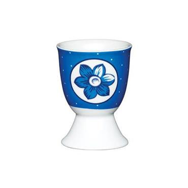 KitchenCraft Porcelain Blue Flower Egg Cup | KCEGGBFLSPOT