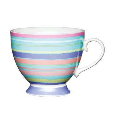 KitchenCraft China Bright Stripe Mug   KCMFTD11