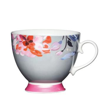 KitchenCraft China Floral Border Mug | KCMFTD13