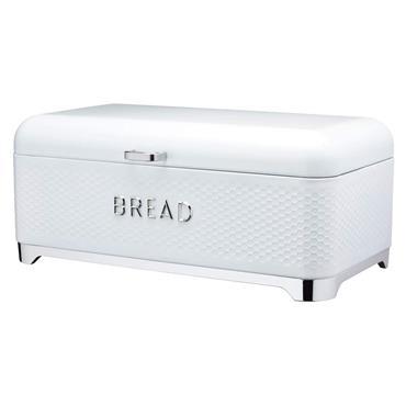 Lovello Textured Bread Bin - Ice White | LOVBBWHT