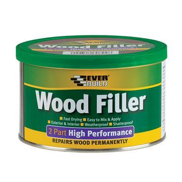 EVERBUILD Wood Filler High Performance 2 Part Light 500g