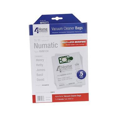 HENRY HETTY NUMATIC MICROFIBRE VACUUM BAGS 5 PACK | EXSMFB373