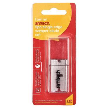 Amtech Single Safety Razor Blades 5 Piece | AM/G0968