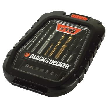 Black & Decker Mixed Drilling & Screwdriving Drill Bit Set | A7186-XJ