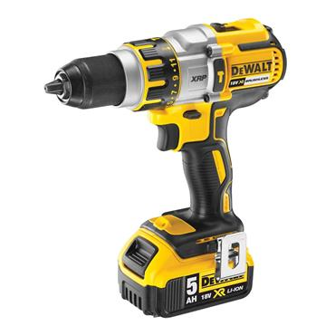 Dewalt 18c Combi Drill with 2 x 5.0ah Batteries | DEWDCD995P2