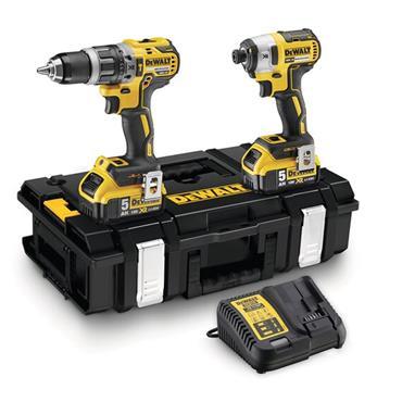Dewalt DCK266P2 XR Brushless Twin Pack Combi Drill Impact Driver 18V 2 x 5.0Ah Li-ion | DEWDCK266P2