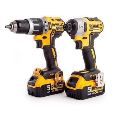 Dewalt Twinpack (1 x DCD796 Combi Drill 1 x DCF887 Impact Driver 2 x 5.0ah Batteries) | DEWDCK266P2T