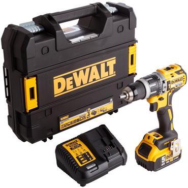 Dewalt XR Brushless Combi Hammer Drill 18V 1 x 5.0Ah Li-ion Battery | DCD796P1