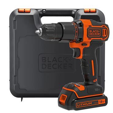 Black & Decker 2 Gear Combi Drill 18V 1 x 1.5Ah Li-ion Battery | B/DBCD700S1K