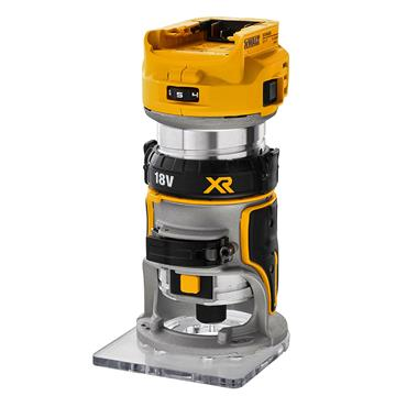 DEWALT 18V XR ROUTER TWIN BASE BARE TSTA