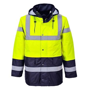 CONTRAST TRAFFIC JACKET | (YELLOW / NAVY)