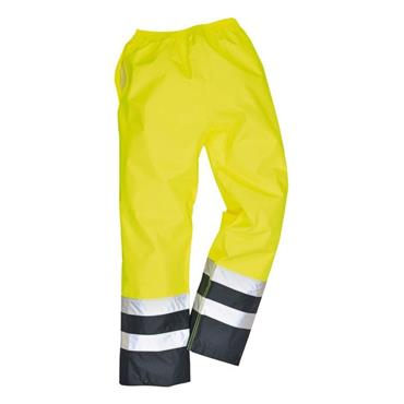 PORTWEST HI VIS 2 TONE RAIN TROUSERS (YELLOW)