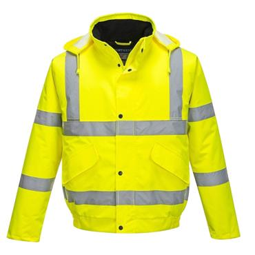 HI VIS BOMBER JACKET (YELLOW)