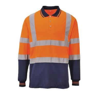 PORTWEST LONG SLEEVE POLO XL ORANGE | S279ONRXL