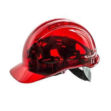PORTWEST PEAKVIEW SAFETY HELMET - RED HARD HAT