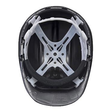 PORTWEST SAFETY HELMET BLACK HARD HAT | PW50BKR