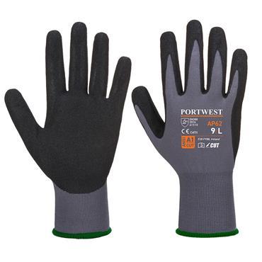 Portwest AP62 - Dermiflex Aqua Glove - Grey/Black   AP62G8RXL