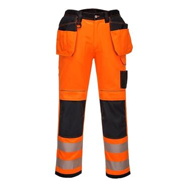 PORTWEST VISION HI VIS TROUSERS (ORANGE)