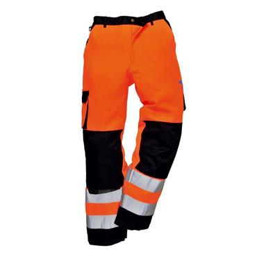 PORTWEST VISION HI VIZ TROUSERS ORANGE WAIST 34""