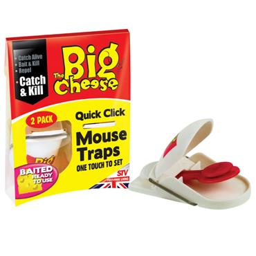 BIG CHEESE QUICK CLICK MOUSE TRAP 2 PACK