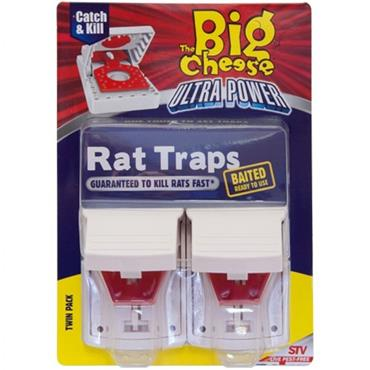 The Big Cheese Ultra Power Rat Traps Twin Pack | STV149