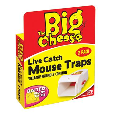 BIG CHEESE MOUSE TRAP LIVE CATCH 2 PACK